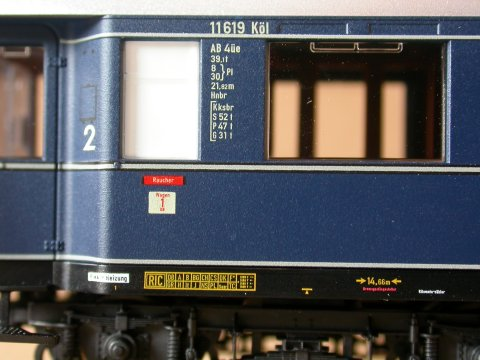 zum Vergleich: Beschriftung Fleischmann 5840